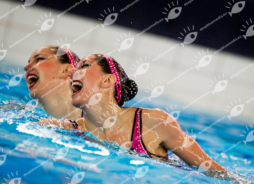 Final Duet Free<br /> FRA FRANCE<br /> CHRETIEN Margaux<br /> AUGE Laura<br /> European Champions Cup Synchronised Swimming Haarlemmermeer 2015<br /> Haarlemmermeer, Netherlands 2015  May 8 th - 10 th<br /> Day03 - May 10th<br /> Photo P. F. Mesiano/Deepbluemedia/Inside