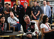 Vodafone staff.<br /> Vodafone New Zealand announce the renewing of sponsorship for the Vodafone Warriors at InnoV8 Auckland Vodafone HQ, North Shore, Auckland. Thursday 24 May 2018. © Copyright Image: Andrew Cornaga / www.photosport.nz