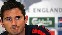 Photo: Paul Thomas.<br /> England Press Conference. 01/06/2006.<br /> <br /> Frank Lampard.