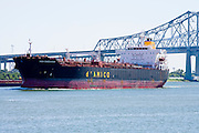 20 SEPTEMBER 2006 - NEW ORLEANS, LOUISIANA:  An empty tanker sails up the Mississippi River towards the port of New Orleans. Photo by Jack Kurtz / ZUMA Press