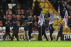 Flag bearers - Photo mandatory by-line: Dougie Allward/JMP - Mobile: 07966 386802 - 05/12/2014 - SPORT - Rugby - Bristol - Ashton Gate - Bristol Rugby v London Scottish - B&I Cup