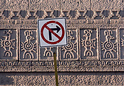 No Right Turn, Wall Carvings, Mazatlan, Mexico, 1988