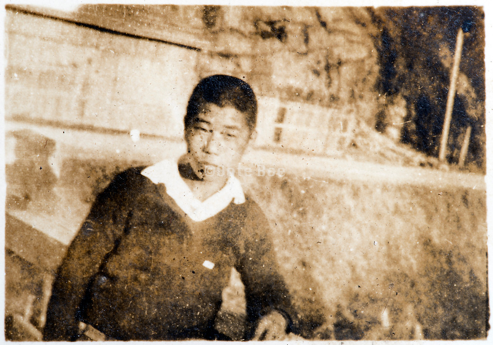 Japanese boy casual portrait ca 1930s
