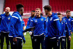 Alfie Kilgour of Bristol Rovers and teammates arrive at Doncaster Rovers - Mandatory by-line: Robbie Stephenson/JMP - 19/10/2019 - FOOTBALL - The Keepmoat Stadium - Doncaster, England - Doncaster Rovers v Bristol Rovers - Sky Bet League One