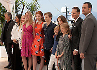 Actor Viggo Mortensen, producer Shivani Rawat,  producer Monica Levinson, producer Lynette Howell-Taylor,  actress Annalise Basso, actor Nicholas Hamilton,  actor Charlie Shotwell,  actress Samantha Isler,  actress Shree Crooks,  director Matt Ross and producer Jamie Patricof at the Captain Fantastic film photo call at the 69th Cannes Film Festival Tuesday 17th May 2016, Cannes, France. Photography: Doreen Kennedy