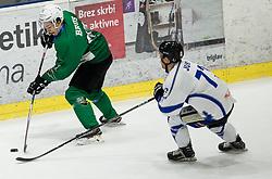 Nejc Brus of SZ Olimpija during ice hockey match between HK SZ Olimpija and WSV Sterzing Broncos Weihenstephan (ITA) in Round #12 of AHL - Alps Hockey League 2018/19, on October 30, 2018, in Hala Tivoli, Ljubljana, Slovenia. Photo by Vid Ponikvar / Sportida