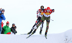 17.12.2016, Nordische Arena, Ramsau, AUT, FIS Weltcup Nordische Kombination, Langlauf, im Bild Eric Frenzel (GER) vor Mario Seidl (AUT) // Eric Frenzel of Germany in front of Mario Seidl of Austria during Cross Country Competition of FIS Nordic Combined World Cup, at the Nordic Arena in Ramsau, Austria on 2016/12/17. EXPA Pictures © 2016, PhotoCredit: EXPA/ Martin Huber
