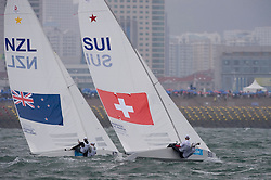 Flavio Marazzi and Enricco De Maria at the 2008 Olympic Games Qingdao China, August 2008 Star Class, they finished 5th at the Olympic Games with a 2nd place in dramatic medal race
