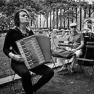 Accordionist /singer Eva Salina at Briant Park