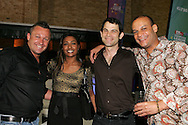 Andy Ross, Kass Naidoo, DJ Earworm and Rodney Jeanbaptiste during the CLT20 live broadcast party held at the Supersport Studios in Johannesburg on the 8 September held as part of the build up to the Champions League T20 tournament being held in South Africa between the 10th and 26th September 2010..Photo by: Ron Gaunt/SPORTZPICS/CLT20