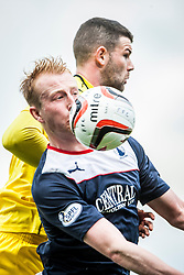 Falkirk's Mark Beck.<br /> Falkirk 3 v 1 Queen of the South, Scottish Premiership play-off quarter-final second leg played today at the Falkirk Stadium.