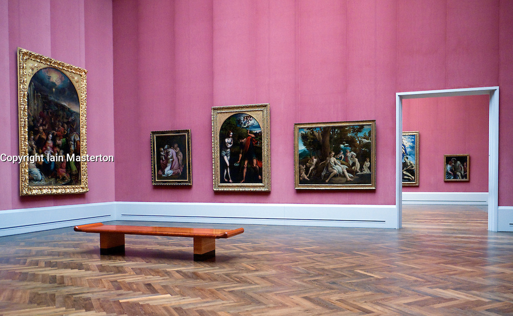 Gemaldegalerie interior at Kulturforum at Berlin Germany