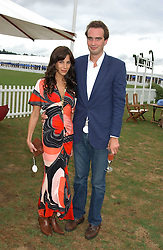 FRITZ VON WESTENHOLZ and CAROLINE SIEBER at the 2005 Cartier International Polo between England & Australia held at Guards Polo Club, Smith's Lawn, Windsor Great Park, Berkshire on 24th July 2005.<br />