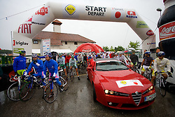 The start of the 3rd stage of Tour de Slovenie 2009 from Lenart to Krvavec, 175 km, on June 20 2009, Slovenia. (Photo by Vid Ponikvar / Sportida)