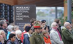 Wellington-Official opening of Pukeahu National War Memorial Park