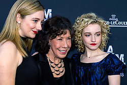 LOS ANGELES, CA - JUNE 10: Actors Amanda Edwards, Lily Tomlin and Julia Garner attend the opening night premiere of 'Grandma' during the 2015 Los Angeles Film Festival at Regal Cinemas L.A. Live on June 10, 2015. Byline, credit, TV usage, web usage or linkback must read SILVEXPHOTO.COM. Failure to byline correctly will incur double the agreed fee. Tel: +1 714 504 6870.