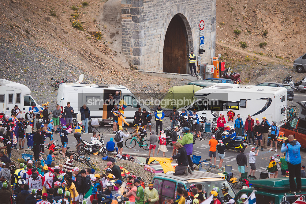 July 19th 2017, France; Cycling, Tour de France Stage 17: Primoz Roglic (LottoNL-Jumbo) attacks on the final climb of the Col du Galibier to win his first ever Tour de France stage.