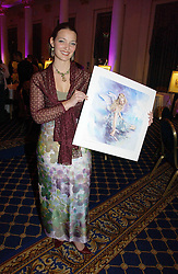 ANNA BINEY at a reception to launch Angel themed Christmas Cards and view an exhibition of the original art work by Gordon King with proceeds going to the Caron Keating Foundation  held at the Langham Hotel, Portland Place, London on 20th November 2006.<br />