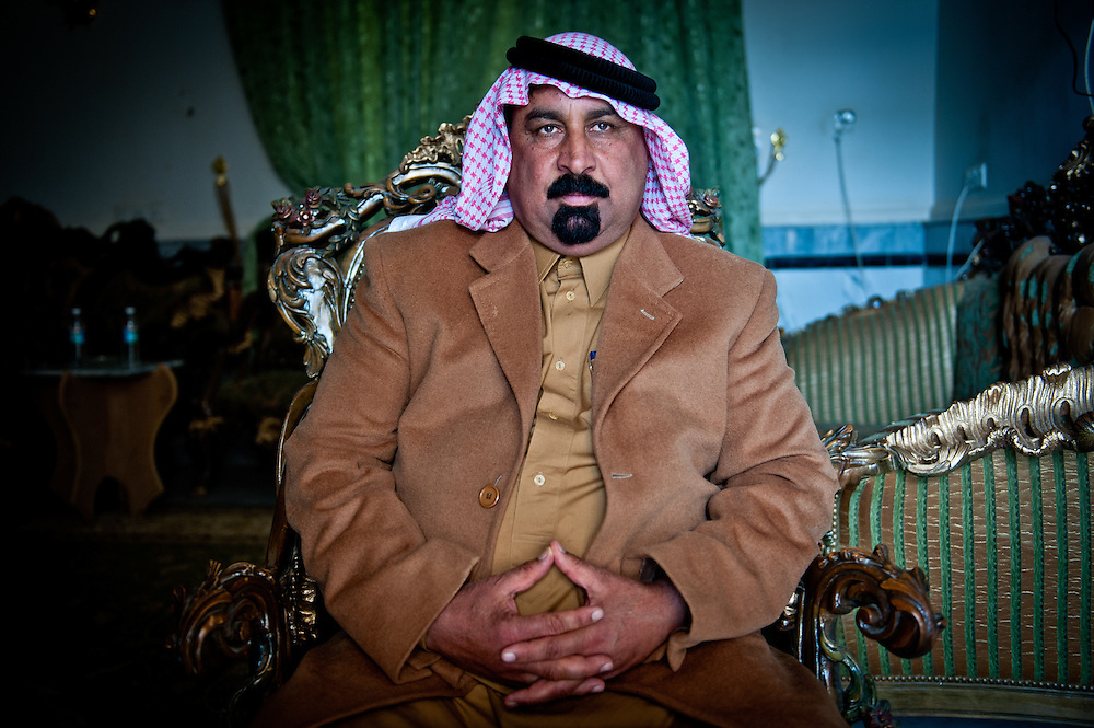 Mohammed Al Hais, a Sons of Iraq leader, at his home in Ramadi, a predominately Sunni town in Anbar Province.