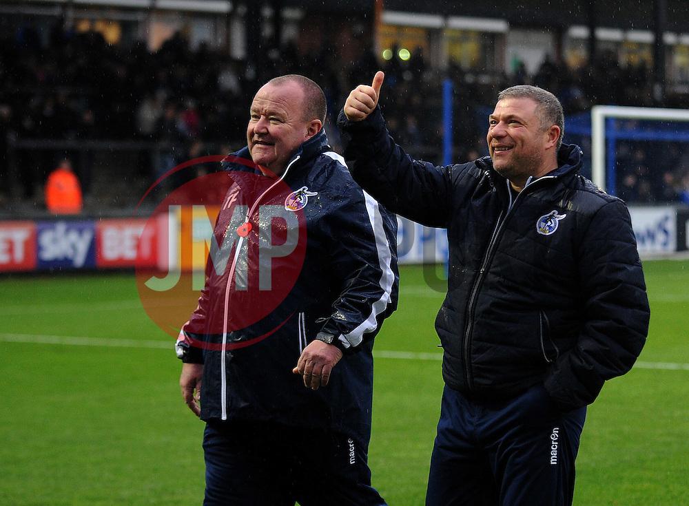 Bristol Rovers Tom Foley and Marco Carota - Mandatory by-line: Neil Brookman/JMP - 10/12/2016 - FOOTBALL - Memorial Stadium - Bristol, England - Bristol Rovers v Bury - Sky Bet League One