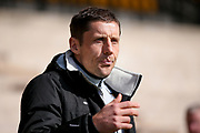 Port Vale Manager Michael Brown  during the EFL Sky Bet League 1 match between Port Vale and AFC Wimbledon at Vale Park, Burslem, England on 1 April 2017. Photo by Simon Davies.