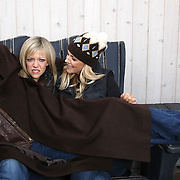 Actors Mark Harmon, Kaitlin Olson and Tricia O'Kelley photographed during the 2009 Sundance Film Festival