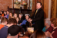 """Jerry Francis during Mayhem & Mystery's production of """"Fashion Friction"""" at the Spaghetti Warehouse in downtown Dayton, Monday, March 21, 2011."""
