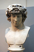 Marble bust of Antinous  d122.  Bithynian youth of matchless beauty.  Lover of Hadrian.