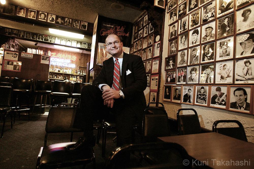 Bert Haas, Executive Vice President of Zanies Comedy Night club in Chicago.<br /> (Photo by Kuni Takahashi)