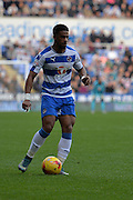 Reading's Garath McCleary on the ball during the Sky Bet Championship match between Reading and Brighton and Hove Albion at the Madejski Stadium, Reading, England on 31 October 2015. Photo by Mark Davies.