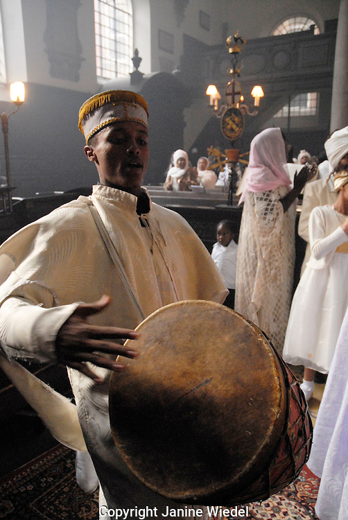 Service at the Ethiopian Orthodox Church in Central London.