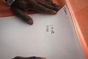 &quot;Casa dei Mirti&quot; a Palermo, comunit&agrave; alloggio per minori migranti non accomapagnati, Djawara, 17 anni scrive nella sua lingua la prima sensazione che prova se pensa al passato ...<br /> &quot;Casa dei Mirti&quot; community for unaccompanied foreign minors,Djawara seventeen years old  writes in his own language the word representing his feeling about his past: love.