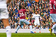 Jonathan Kodjia of Aston Villa (26) reacts during the EFL Sky Bet Championship match between Leeds United and Aston Villa at Elland Road, Leeds, England on 28 April 2019.