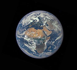 July 30, 2015 - SOL SYSTEM Earth -- 30 Jul 2015 -- NASA DSCOVR probe sends back spectacular image of Europe and Africa from space...Africa and most of southern Europe feature in this image of Earth released today by NASA - from a camera on the Deep Space Climate Observatory (DSCOVR) satellite. The image, taken July 6 from a vantage point one million miles from Earth, was one of the first taken by NASA Earth Polychromatic Imaging Camera (EPIC). Central Europe is toward the top of the image with the Sahara Desert to the south, showing the Nile River flowing to the Mediterranean Sea through Egypt. The photographic-quality color image was generated by combining three separate images of the entire Earth taken a few minutes apart. The camera takes a series of 10 images using different narrowband filters -- from ultraviolet to near infrared -- to produce a variety of science products. The red, green and blue channel images are used in these Earth images. The DSCOVR mission is a partnership between NASA, the National Oceanic and Atmospheric Administration (NOAA) and the U.S. Air Force, with the primary objective to maintain the nation real-time solar wind monitoring capabilities, which are critical to the accuracy and lead time of space weather alerts and forecasts from NOAA. DSCOVR was launched in February to its planned orbit at the first Lagrange point or L1, about one million miles from Earth toward the sun. It from that unique vantage point that the EPIC instrument is acquiring images of the entire sunlit face of Earth. Data from EPIC will be used to measure ozone and aerosol levels in Earth atmosphere, cloud height, vegetation properties and a variety of other features -- Picture by NASA/NASA (Credit Image: © /NASA via ZUMA Press)