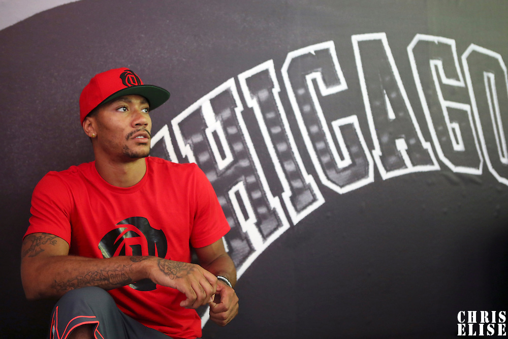 12 July 2013: Chicago Bulls superstar Derrick Rose is seen during Adidas' D Rose tour,  in Paris, France.