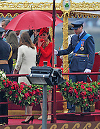 "KATE AND PRINCE WILLIAM ATTEND THAMES PAGEANT.They joined the Queen, Duke of Edinburgh, Prince Charles, Camilla, Duchess of Cornwall and Prince Harry on the ""Spirit of Chartwell"" for the procession up the Thames to mark the Diamond Jubilee of Queen Elizabeth ll..The Royals braved a toprrential downpour as they watched the flotilla of 1,000 boats file past them alongside the HMS President, Katherine Docks, London_03/06/2012.Mandatory credit photo: ©DIASIMAGES..(Failure to credit will incur a surcharge of 100% of reproduction fees)..                **ALL FEES PAYABLE TO: ""NEWSPIX INTERNATIONAL""**..IMMEDIATE CONFIRMATION OF USAGE REQUIRED:.DiasImages, 31a Chinnery Hill, Bishop's Stortford, ENGLAND CM23 3PS.Tel:+441279 324672  ; Fax: +441279656877.Mobile:  07775681153.e-mail: info@newspixinternational.co.uk"