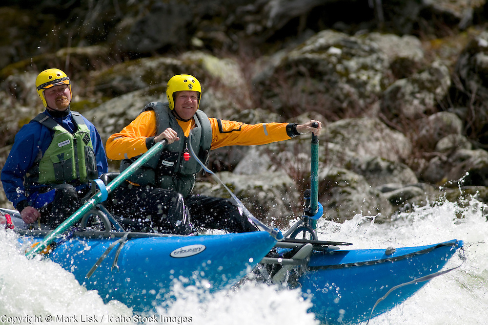 (MR) Spring brings rafters to the Lochsa river, one of north Idaho's famous white water rivers.