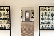"S21, or Tuol Sleng, the Khmer Rouge detention and interrogation centre in Phnom Penh, where almost all inmates perished. The photographs stand as a memorial to those who ""disappeared""."