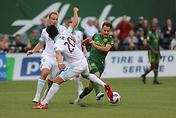 August 26, 2018 - Portland, Oregon, USA - Portland, Oregon - Sunday, August 26, 2018: Portland Timbers vs. Seattle Sounders FC in a match at Providence Park. (Credit Image: © Al Sermeno/ISIPhotos via ZUMA Wire)