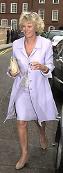 MRS CAMILLA PARKER BOWLES at a party in <br /> London on 5th July 2000.OGB 84<br /> © Desmond O'Neill Features:- 020 8971 9600<br />    10 Victoria Mews, London.  SW18 3PY <br /> www.donfeatures.com   photos@donfeatures.com<br /> MINIMUM REPRODUCTION FEE AS AGREED.<br /> PHOTOGRAPH BY DOMINIC O'NEILL