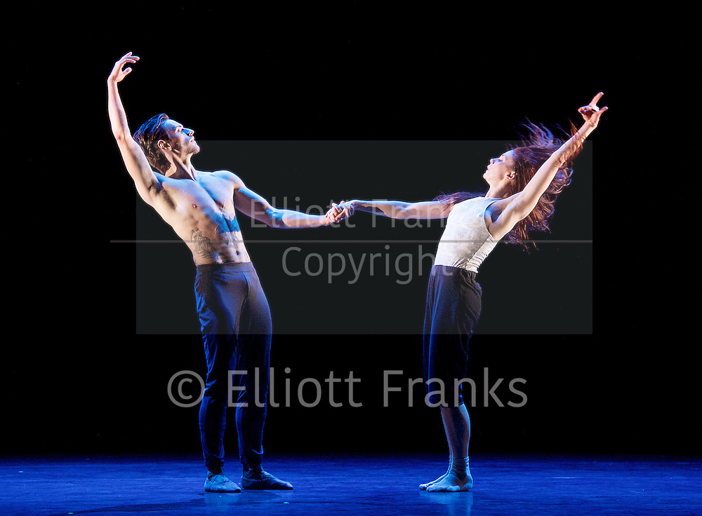Natalia Osipova <br /> Triple Bill <br /> at Sadler's Wells, London, Great Britain <br /> rehearsal <br /> 28th June 2016 <br /> <br /> <br /> <br /> Silent Echo <br /> by Russell Maliphant <br /> Natalia Osipova <br /> Sergei Polunin <br /> <br /> <br /> <br /> <br /> Photograph by Elliott Franks <br /> Image licensed to Elliott Franks Photography Services