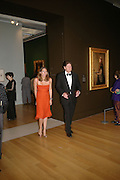 Helen Macintyre and John Madjeski, Millais exhibition opening and Dinner. Tate Gallery. 24 September 2007. -DO NOT ARCHIVE-© Copyright Photograph by Dafydd Jones. 248 Clapham Rd. London SW9 0PZ. Tel 0207 820 0771. www.dafjones.com.