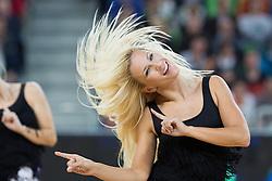 Cheerleaders Dragon Ladies - Zmajcice during basketball match between KK Union Olimpija and Panathinaikos Athens (GRE) in 3rd Round of Regular season of Euroleague 2012/13 on October 26, 2012 in Arena Stozice, Ljubljana, Slovenia. Panathinaikos defeated Union Olimpija 85:67. (Photo By Matic Klansek Velej / Sportida)