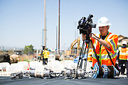 "Pacific Gas and Electric Company (PG&E) and General Electric (GE) have teamed up to produce in-line inspection tools called Smart Pigs to increase Bay Area gas pipeline safety.  The Smart Pigs come in two sizes, measuring up to 14 feet long, 30"" in diameter, and weighing nearly 2,000 pounds.  They contain a series of electronics and magnets, which inspect underground gas pipelines for internal and external wear and damage and then relay GPS information to PG&E technicians.  The Smart Pig project is scheduled to inspect up to 206 miles of Bay Area gas pipeline in 2012.  Photo by Stan Olszewski/SOSKIphoto."