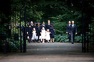 LAGE VUURSCHE - Arrival at the chuch for the funeral of prince Friso his wife Princes mabel and prinses Beatrix and king Willem Alexander en Queen maxima ath the children COPYRIGHT ROBIN UTRECHT