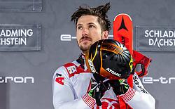 "29.01.2019, Planai, Schladming, AUT, FIS Weltcup Ski Alpin, Slalom, Herren, Siegerehrung, im Bild Sieger Marcel Hirscher (AUT) // Winner Marcel Hirscher of Austria during the winner Ceremony for the men's Slalom ""the Nightrace"" of FIS ski alpine world cup at the Planai in Schladming, Austria on 2019/01/29. EXPA Pictures © 2019, PhotoCredit: EXPA/ JFK"