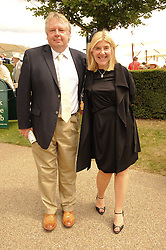 NICK FERRARI and SIOBHAN WHITE at the third day of the 2010 Glorious Goodwood racing festival at Goodwood Racecourse, Chichester, West Sussex on 29th July 2010.