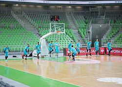 during basketball match between KK Petrol Olimpija and Movistar Estudiantes in 11th Round of FIBA Basketball Champions League 2017/18, on January 17, 2018 in Arena Stozice, Ljubljana, Slovenia. Photo by Vid Ponikvar / Sportida