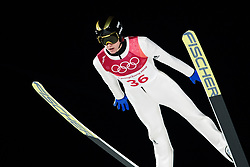 February 17, 2018 - Pyeongchang, SOUTH KOREA - 180217 Peter Prevc of Slovenia in the men's large hill individual final during day eight of the 2018 Winter Olympics on February 17, 2018 in Pyeongchang..Photo: Carl Sandin / BILDBYRÃ…N / kod CS / 57999_303 (Credit Image: © Carl Sandin/Bildbyran via ZUMA Press)