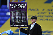 """Todays game sponsor actor dressed as a character from """"Peaky blinders"""" during the EFL Sky Bet Championship match between Birmingham City and Stoke City at the Trillion Trophy Stadium, Birmingham, England on 31 August 2019."""